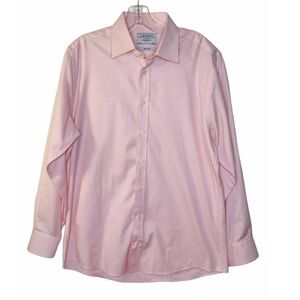 Charles Tyrwhitt Mens Pink Dot Button Down 16/34